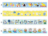 Japanese Die-Cut Washi Masking Tapes / 18mm Gorogoro Nyansuke & Shibanban Summer Collections