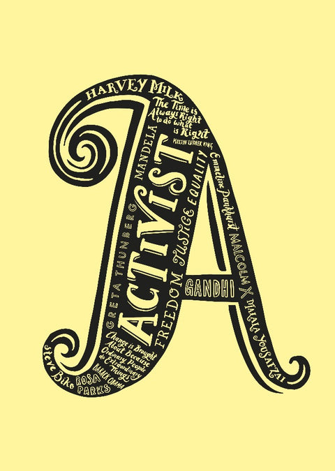 A is for Activist print