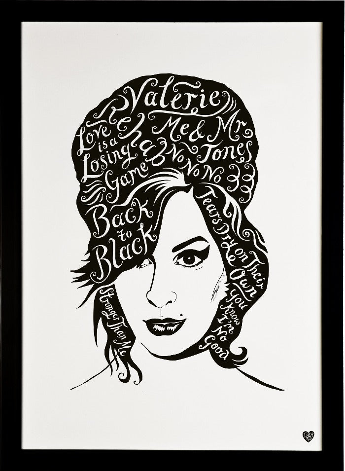 Amy Winehouse, British Musician print