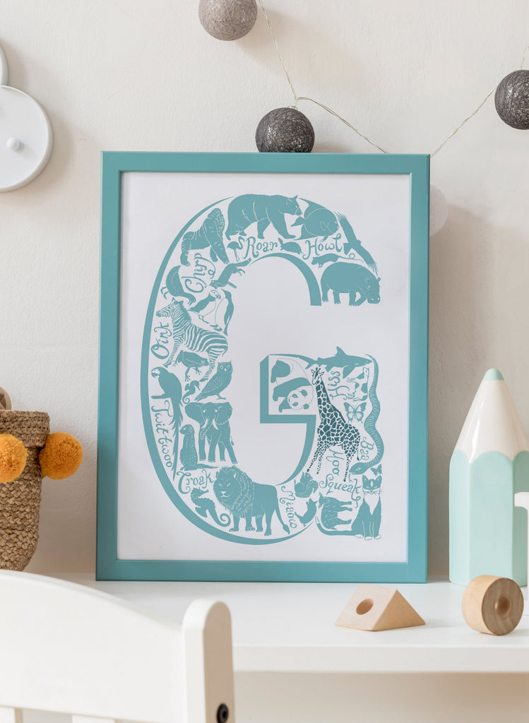 Personalised Letter Christening Print - for delivery w/c 10th August