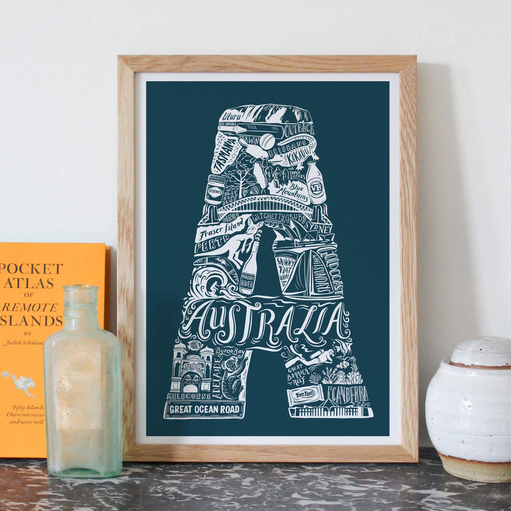 Location Letter prints - bespoke size and colour - for delivery w/c 10th August