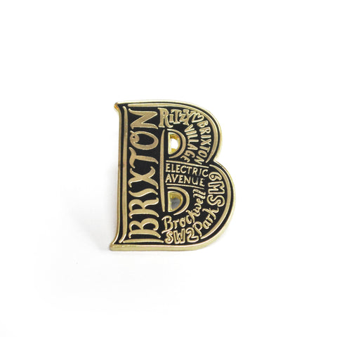 Brixton enamel pin badge
