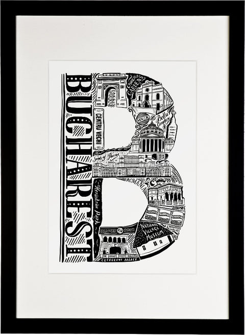 Bucharest Print