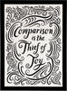 Comparison is the thief of joy quote print