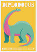 Diplodocus dinosaur Print - as seen in Mr Tumbles room on Something Special