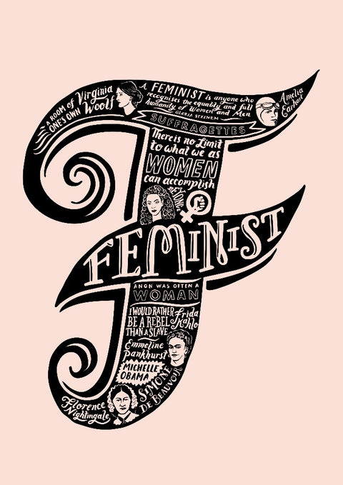F is for Feminist print