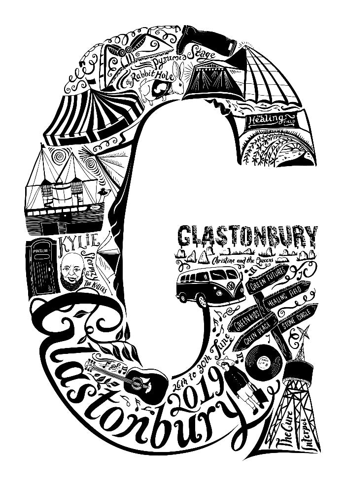 Glastonbury Print (Years available 2017 and 2019)
