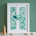 Personalised Animal letter Print
