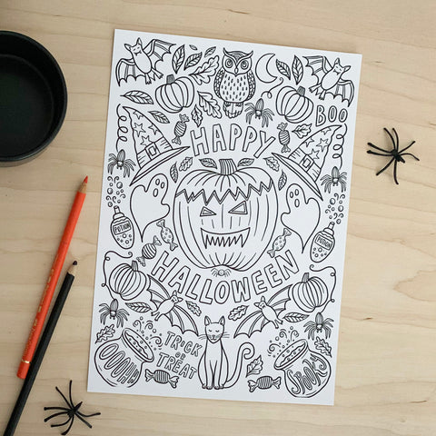 Halloween Colouring Posters - download
