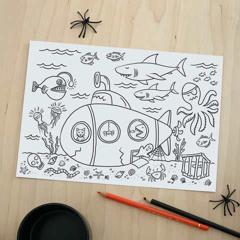 Halloween Colouring Posters - download 2