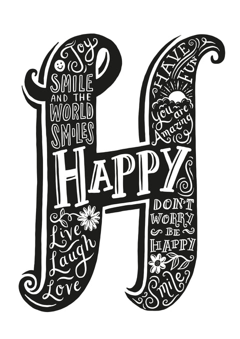 H is for Happy print