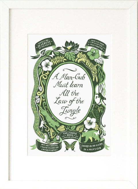 Jungle Book, Famous Quotes Print