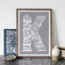 Location Letter prints - bespoke size and colour