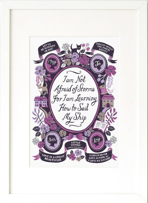 Little Women, Famous Quotes Print