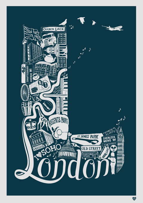 London Colour Print - for delivery w/c 8th June