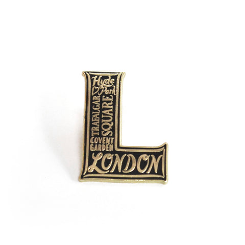 London enamel pin badge