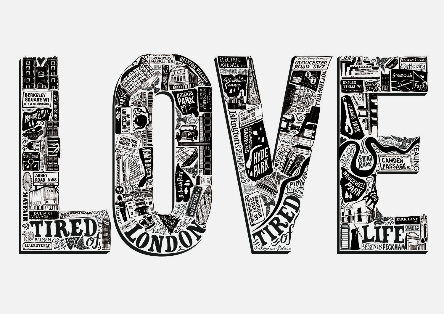 Love London Poster Lucy Loves This