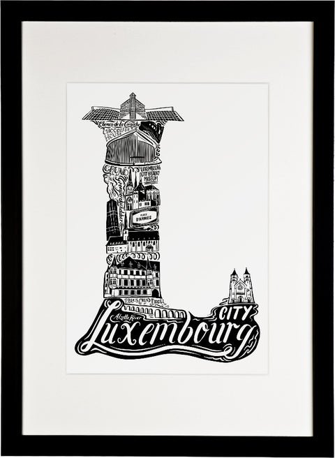 Luxembourg City Print