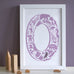 Personalised Letter Christening Print