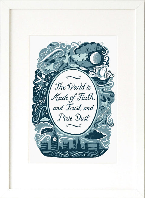 Peter Pan, Famous Quotes Print