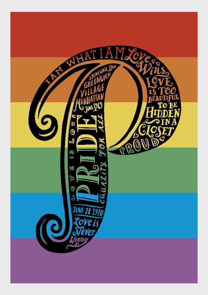 P is for Pride print