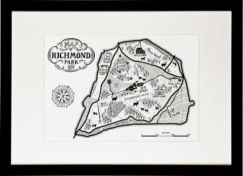 Richmond park Map Print