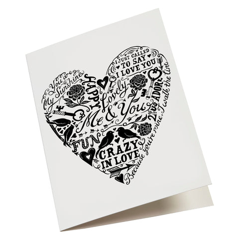 Love & Lyrics card