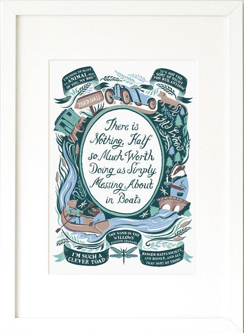 Wind In The Willows, Famous Quotes Print