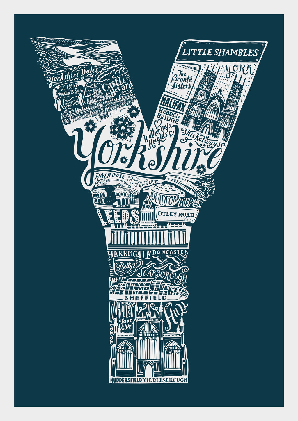 Yorkshire Colour Print
