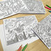 Colouring in Christmas Cards - Pack Of Four
