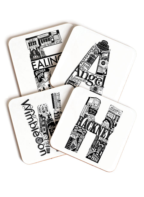 London Letter Area Coaster