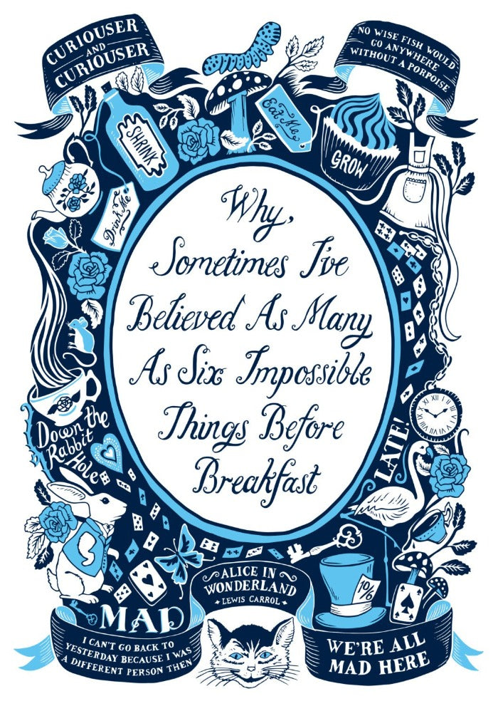 Alice In Wonderland Famous Quotes Print Lucy Loves This