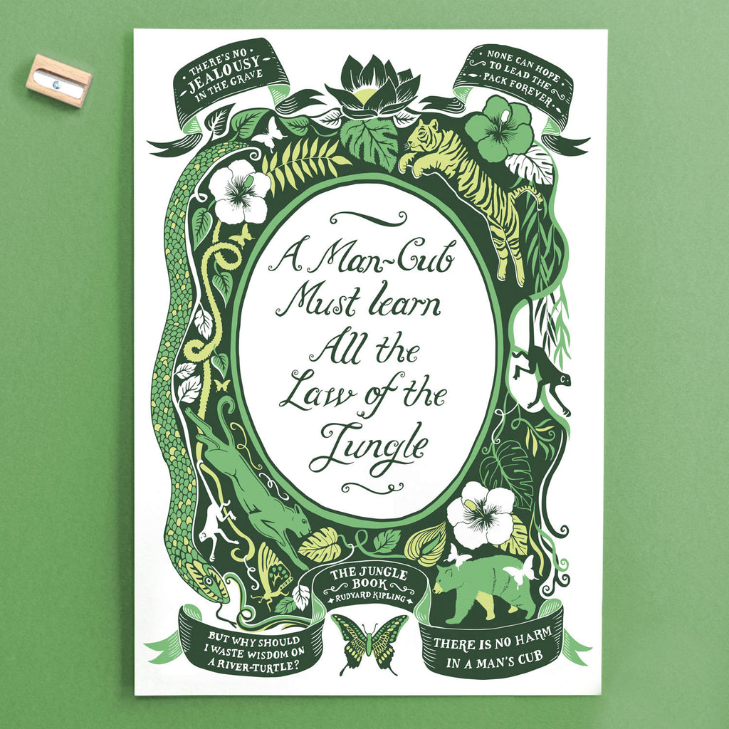 Jungle Book Quotes Alluring Jungle Book Famous Quotes Print  Lucy Loves This