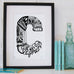 Personalised location letter print