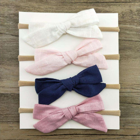 1pcs Girls Nylon Headband Hair Bows Head Band Elastic Bowknot Hairband for Children Kids Toddler Hair Accessories Headwear,,Hollice