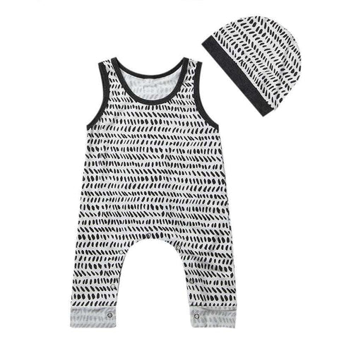 2017 High Quality Brand Cotton Kid Newbore Infant Toddler Baby Girl Boy Clothes Bodysuit Sleeveless Jumpsuit Outfit Clothes 0-2T,,Hollice