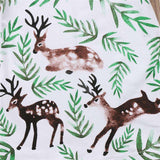 Baby Girls Clothing Dress Kids Girls Long Sleeve O-neck Dress One-piece Trees Deer Cotton Dresses Toddlers Clothes Kid Bow Dress - Hollice
