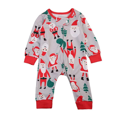 Pudcoco Christmas Newborn Baby Boys Girls Snowman Long Sleeve Romper Jumpsuit Xmas Clothes 0-24M - Hollice