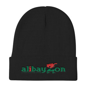 "ALIBAYZON ""Culture"" Black Knit Beanie Hat"
