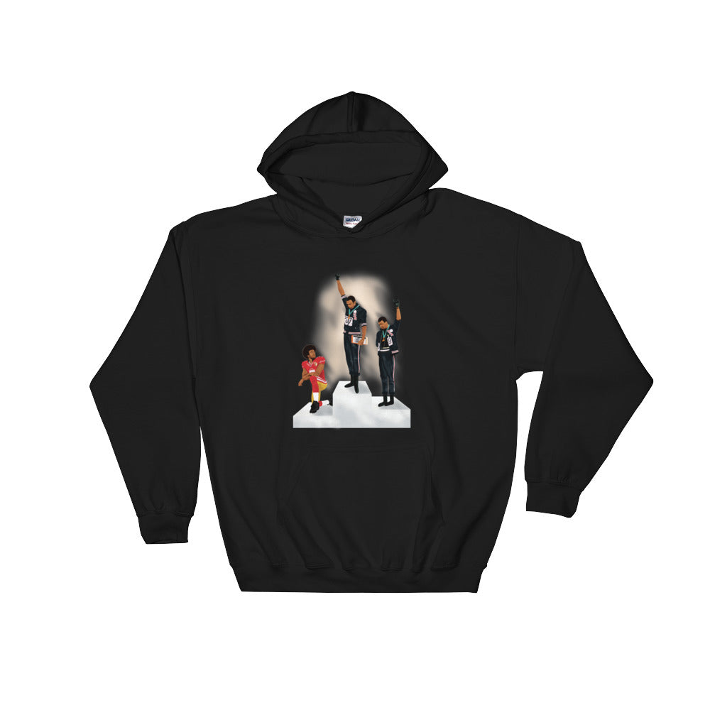 "Colin Kaepernick  ""Sacrifice"" Hooded Sweatshirt Mens Clothing"