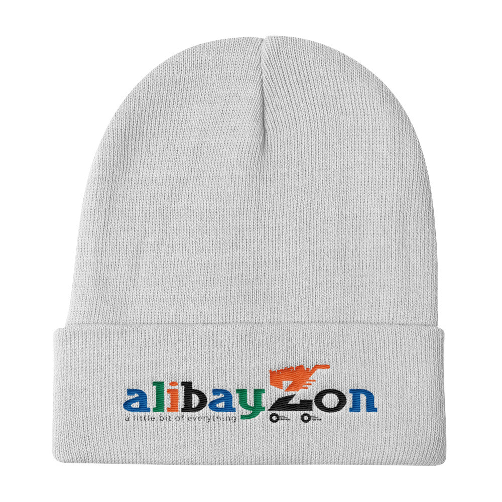 "AlIBAYZON ""Culture"" White Knit Beanie"