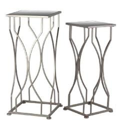 Metal Accent Table with Mirror Top and Square Base Set of 2 Coated on home goods furniture kitchen furniture, home goods furniture sofas, home goods furniture bench, home goods furniture lamps, home goods furniture entertainment centers, home goods furniture beds, home goods furniture benches, home goods furniture bookcases, home goods furniture armoires, home goods furniture loveseats, home goods furniture dressers, home goods furniture media, home goods furniture tv stands,