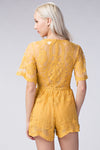 SUNRAY YELLOW LACE PLAYSUIT
