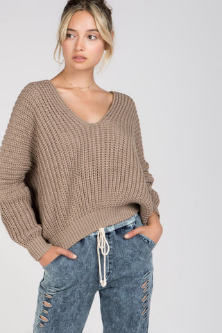 Zetus - Cream Fringe Sweater