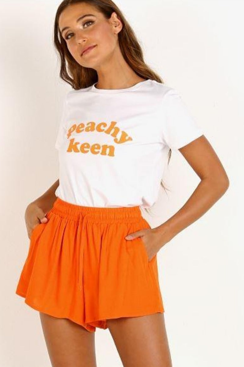 Morgan Tangerine Shorts