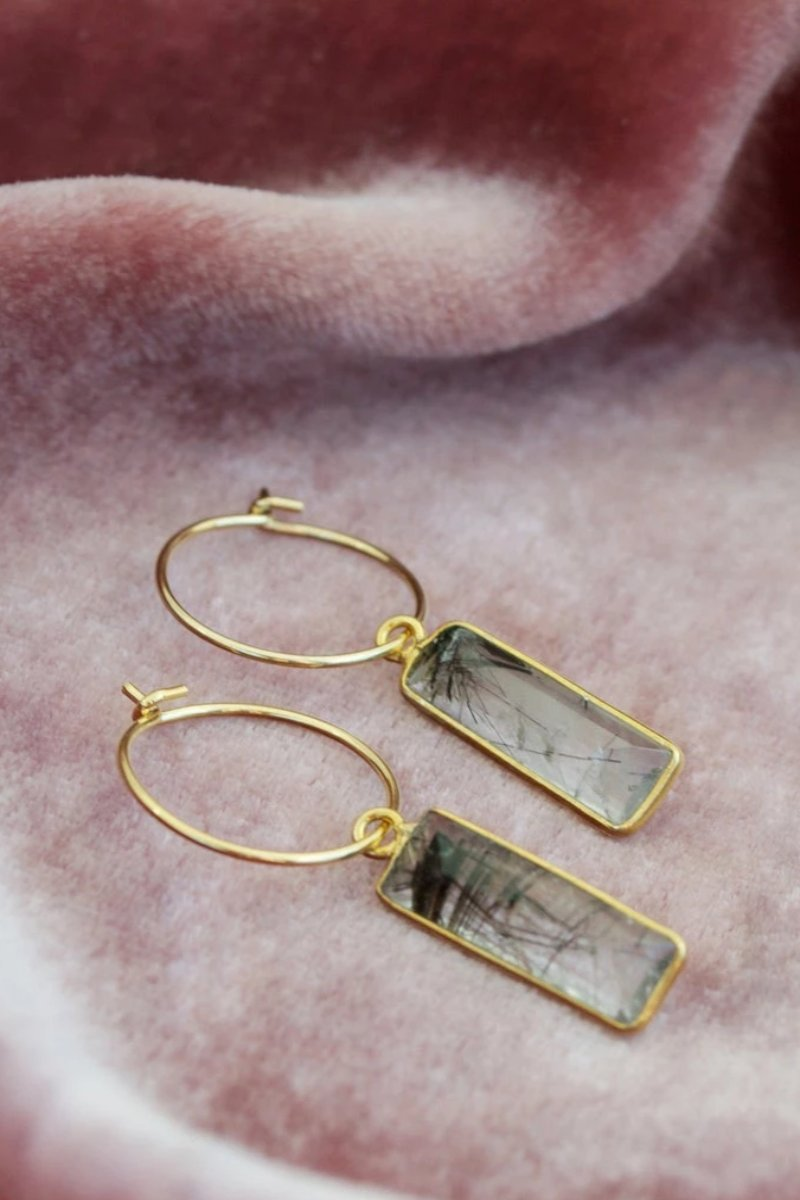 Ellie - Rutilated Quartz Earring