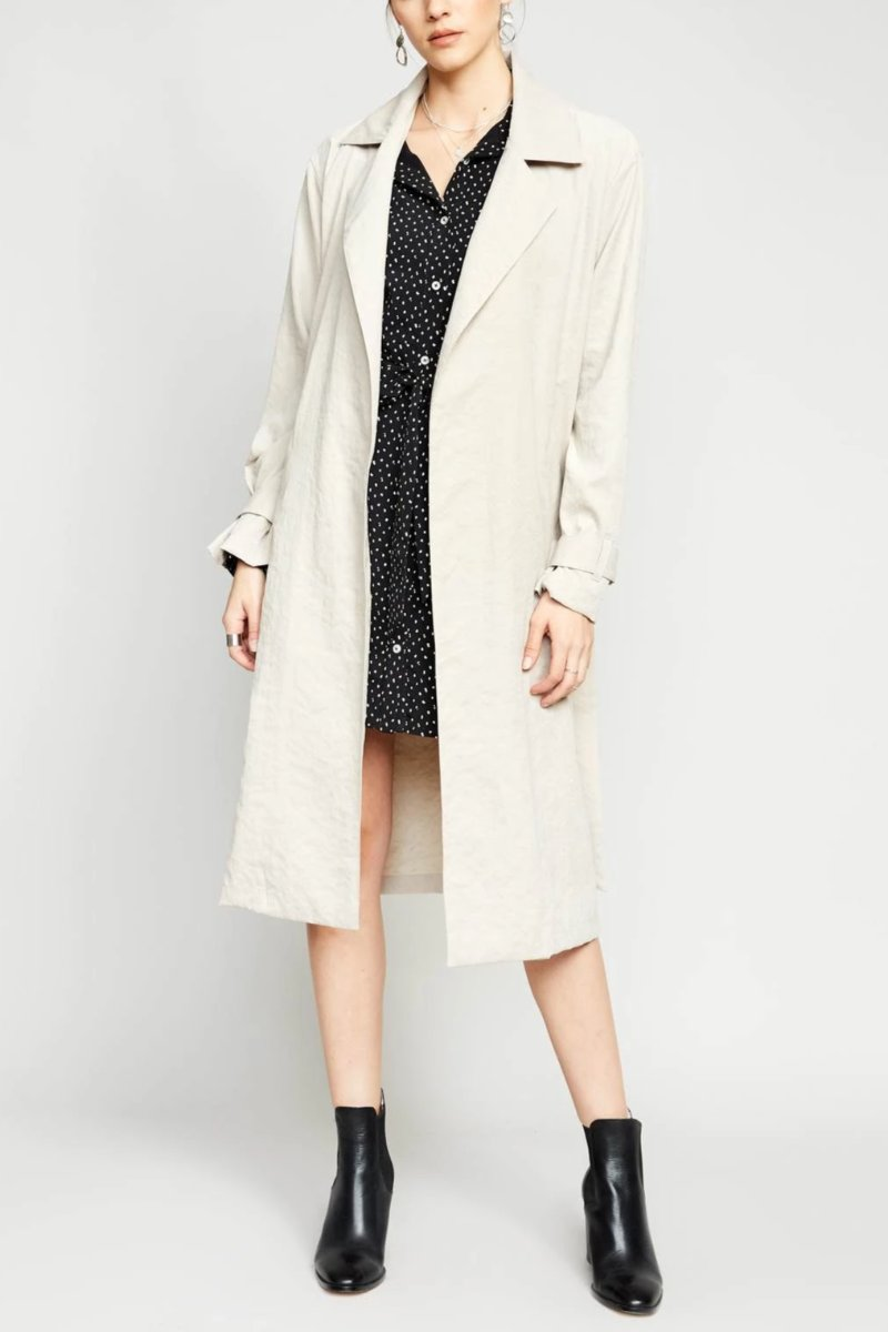 Tiffany Trench - Cream Coat