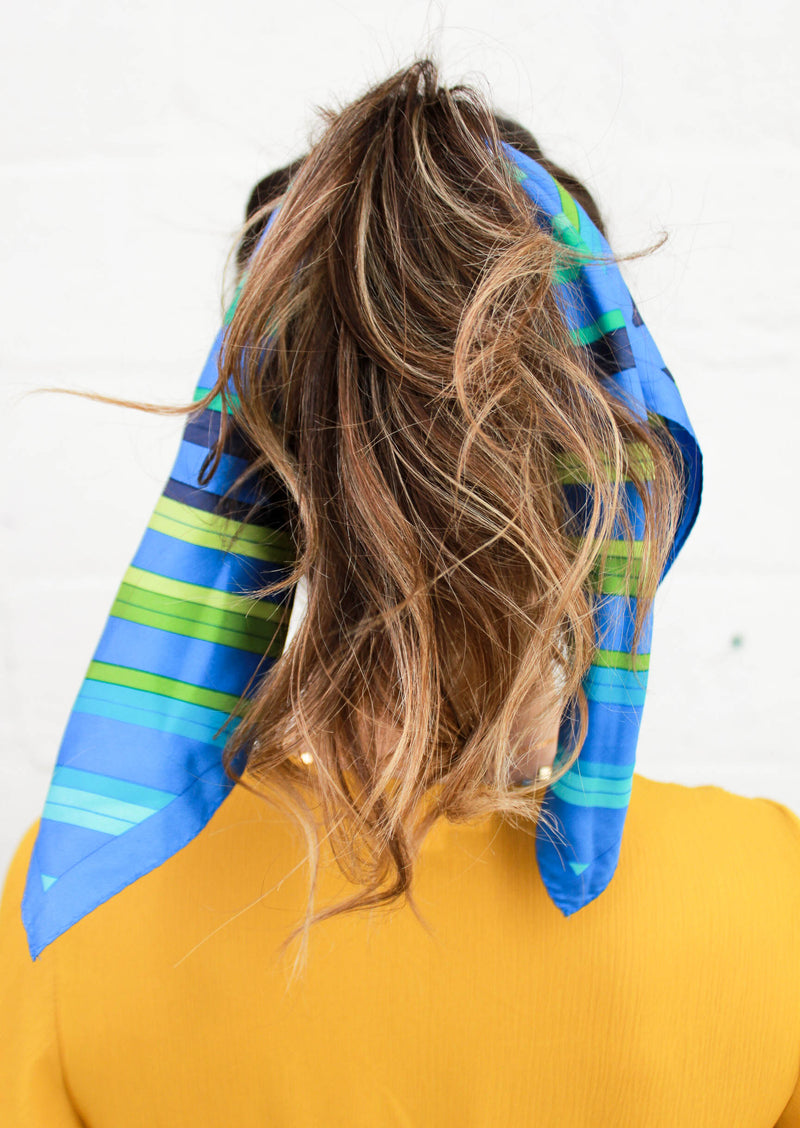 OCEAN WAVES SILK SCARF