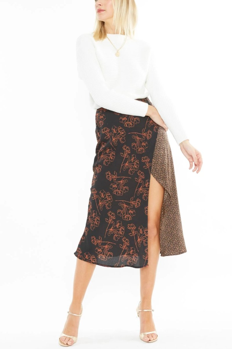 Equinox Midi Skirt - Mix Print