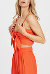 Morgan Tangerine Crop Top